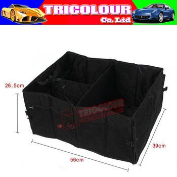 Best quality!!! + Wholesale 5pcs/lot Multi-function Car Trunk Boot Tidy Bag Organizer Storage Box Auto Tools Black #H06133