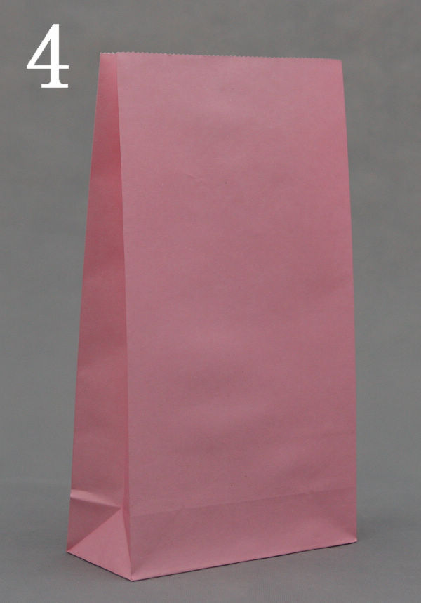Wholesale Free Shipping Size 23x12x7.5 Gift Paper Bags shopping Pink Kraft Promotion bag clothes bags 50pcs/lot(China (Mainland))