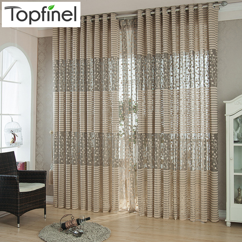 Top Finel Strip Modern Luxury Window Curtains for Living Room Kitchen ...