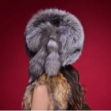 Free Shipping RU winter Fox fur hats for Women genuine Fox fur hats cap ladies real