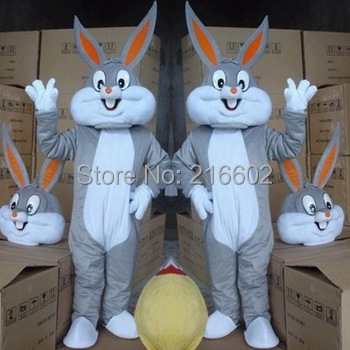 Christmas costumes Cosplay Halloween Bunny Rabbit Mascot Costume Professional Cartoon Costume(China (Mainland))