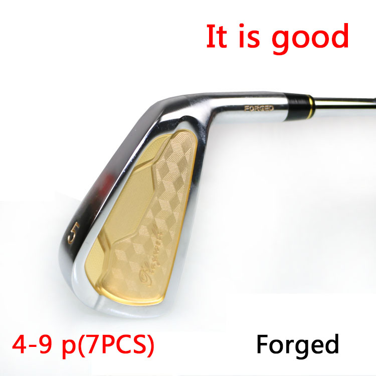 free shipping male golf clubs iron set right handed steel flex S /R 4-9,p 7 pcs/lot 2016 new(China (Mainland))