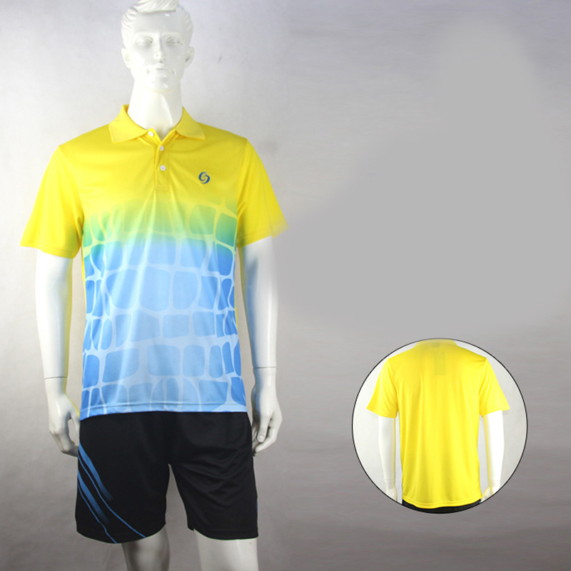 Dry Quickly Breathabl Tennis Shirt Outdoor Tops Running Shirt Handsome Men Necessary Training Casual Cloths One Sets B50073-Z(China (Mainland))