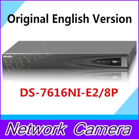 Original english hikvision NVR PoE NVR DS-7616NI-SE/P free shipping<br>