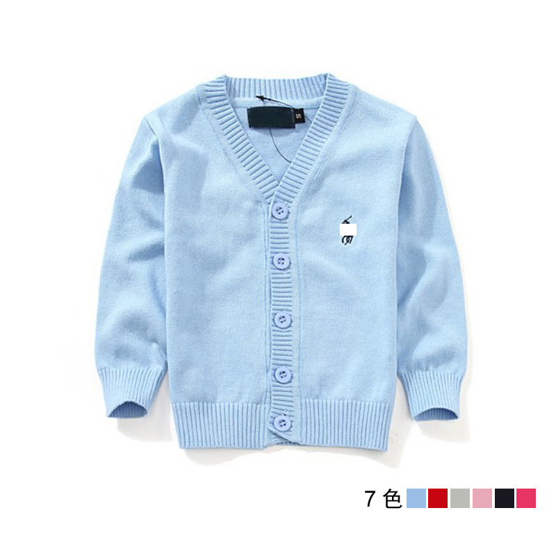 6 color sweat kids good quality boys and girls cardigan sweater coat 2-6T Children's sweater Boys' Sweaters hm-18(China (Mainland))