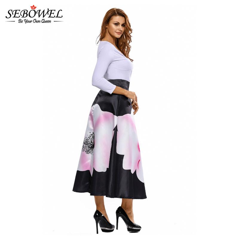 Big-Flower-Print-Black-High-Waist-Maxi-Skirt-LC65017-2-7