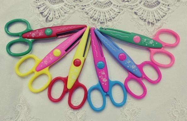 Decorative Wave lace Edge Craft Scissors DIY for Scrapbook/Photo Album Handmade Kids Artwork Card Safe 6 designs