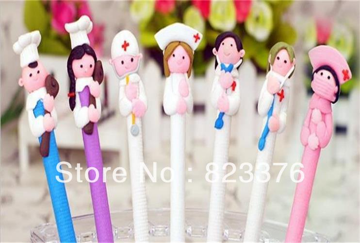 DHL Free shipping 250pcs Doctors and nurses Souvenirs/Nurses Day Gift/Fimo gift pen/Hospitals and clinics gifts/Nurse Pen(China (Mainland))
