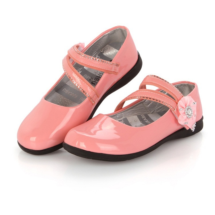 2015 New Girls Patent Leather Shoes 3 Colors Fashion Children Princess Shoes Kids Cute Buckle Dancing Shoes 8-18 Years, HJ039(China (Mainland))