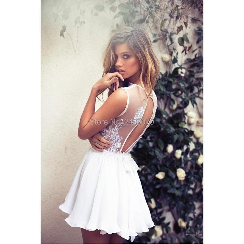 Plunging v white dress 8th