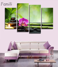 4pcs Print poster canvas Wall Art pink orchids Decoration art oil painting Modular pictures on the wall sitting room(no frame)(China)
