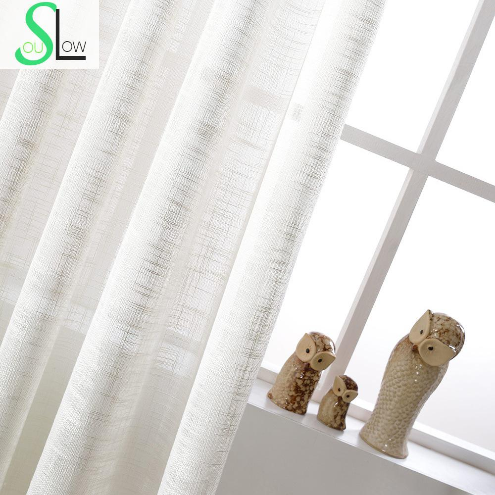 Curtains texture - White Cotton Texture American Country Style Decorative Cloth Curtain