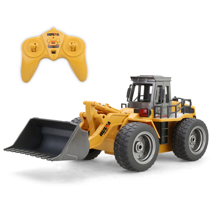 RC Toys 6 Channel 1/14 RC Metal Bulldozer USB Charging best RC Cars for kids 4(China (Mainland))