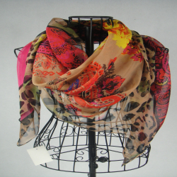 ! 2016 Newest Style Fashion Print Square Women Scarf Shawl Lowest Price (SMT112) - JIAXING NATION SILK CO;LTD. store