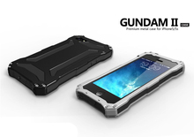 Original 5c waterproof Metal Aluminum Outdoor GUNDAM Shockproof Silicon Cover Case for iPhone 5c case with Tempered Glass(China (Mainland))