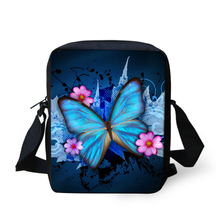 Fashion Women Messenger Bags Butterfly Printed Crossbody Bag for Girls Small 3D Animal Shoulder Bag Children Outdoor Travel Bags