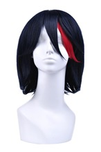 Free Shipping Kill La Kill Ryuko Matoi Short Wig Dark Blue Mixed Red Anime Cosplay Hair Sold By Mato Cosplay