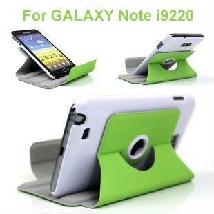 360 Degree Rotating Stand Leather Case Cover For Samsung Galaxy Note I9220 N7000