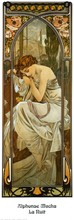 High quality,Night ,Alphonse Mucha oil painting canvas,Hand-painted,Portrait Modern Art Reproduction,