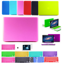 Hot deep colors frosted matte protector case for macbook pro 13 retina  13 air 11 13+keyboard skin+screen protector for mac book(China (Mainland))