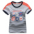 ok Freeshipping summer Children child Boy Kids baby gray  white badge pattern short sleeve gengtleman cotton T shirt  PDXZ01P07
