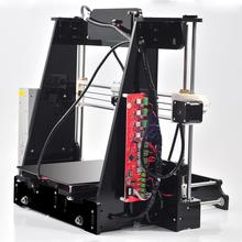2016 High Quality Prusa i3 3d Printer DIY kit Black transparent color A8 High Precision Reprap