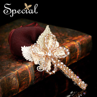 Special New Design Hair Accessories Silk Crystal Fashion Handmade Romantic Red Rose Hair band  Free Shipping  FS141111