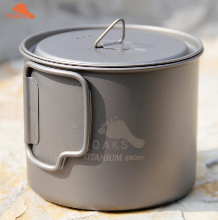 TOAKS 3in1 ultralight Titanium tableware folding Titanium pot portable Titanium bowl outdoor folding cup Titanium 550ml 88g(China (Mainland))
