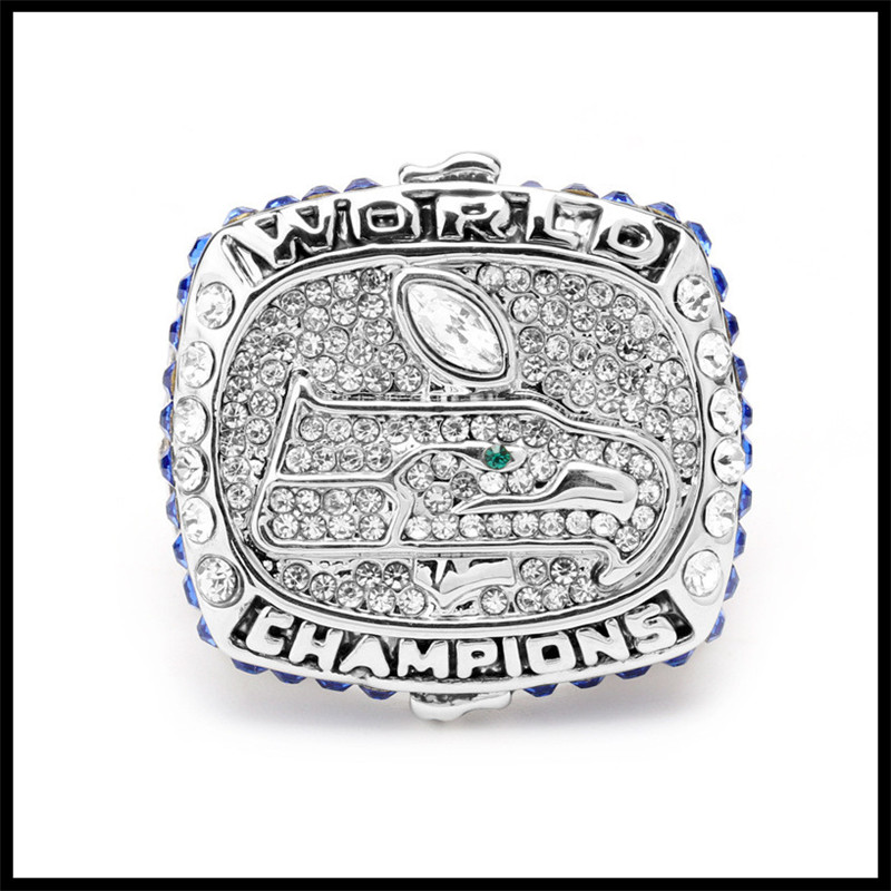 2013 The Seattle Seahawks NFL Championship Ring Fashion Luxury Full Crystal Champion Classical Souvenir Rugby Super Bowl Ring(China (Mainland))