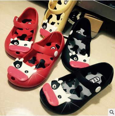 kids font b shoes b font boys girls Latest jelly cows fish mouth frosted boy female