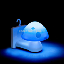 Solar LED Lamp Mushroom Shape Night Light Novelty Emergency Lamp for Home Decoration With Light Induction For Free Shipping(China (Mainland))
