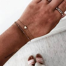 30 Style Boho Bangle Elephant Heart Shell Star Moon Bow Map Crystal Bead Bracelet Women Charm Party Wedding Jewelry Accessories(China)