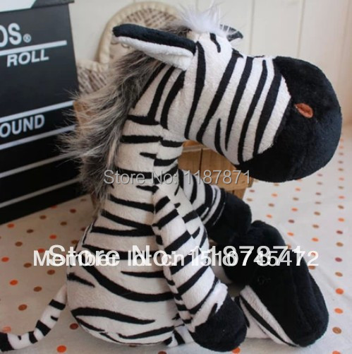 New 2014 Free Shipping The NICI Big Size 22cm Lovely Zebra Doll The Soft Baby Toy Stuffed Plush Baby Gift Lovely Animal Doll(China (Mainland))