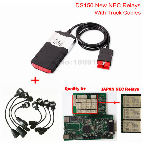 2014.r2 Software New design DS150E New TCS CDP PRO CAR+TRUCK TCS CDP+ Pro Plus With NEC relay without Bluetooth free shipping(China (Mainland))