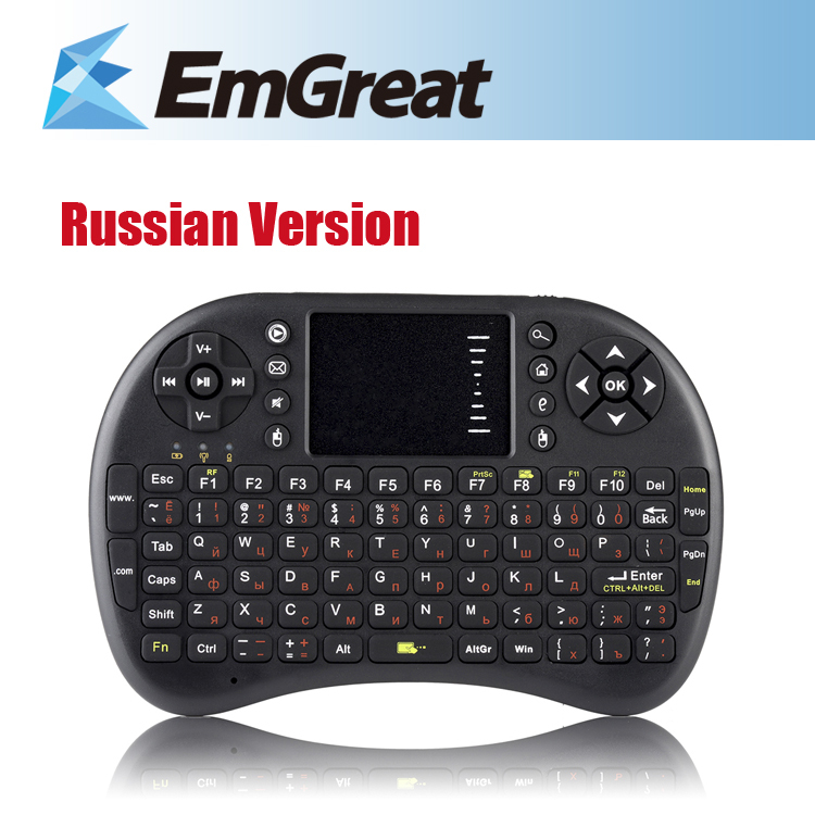 Гаджет  Russian Version 2.4G Mini Wireless Keyboard Fly Air Mouse Remote Contorl  For PC Android TV BOX Computer P0020889 Free Shipping  None Компьютер & сеть
