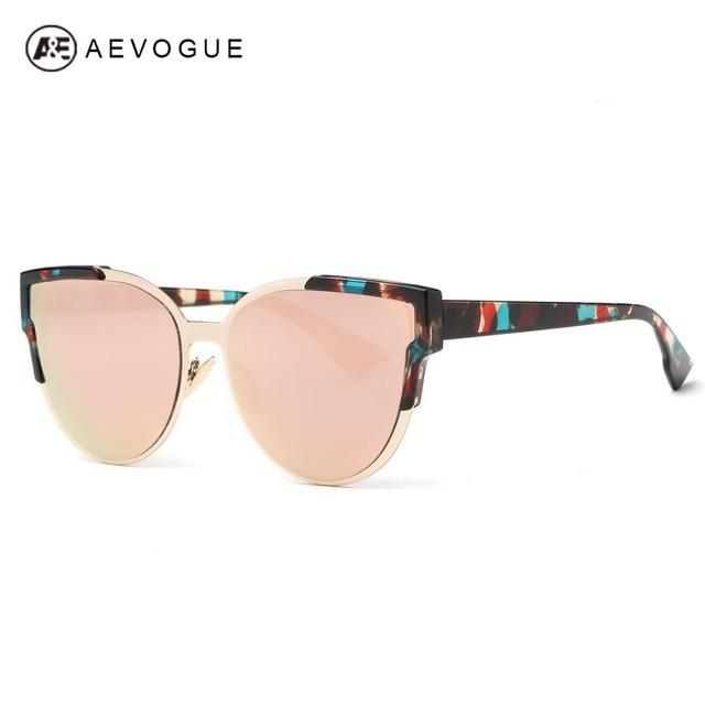Aevogue очки женщины новые оригинальные марки дизайнер кошачий глаз ацетат рама покрытие старинные солнечные очки с коробкой UV400 AE0379