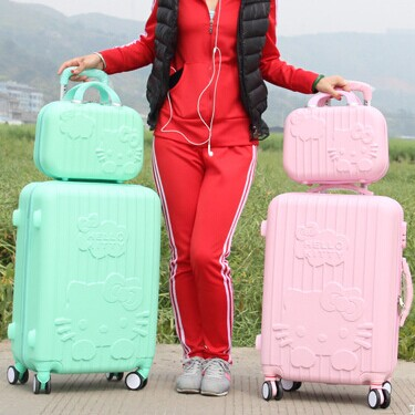 Universal wheels trolley luggage picture box bars of a cat travel bag Suitcase female aircraft wheel child(China (Mainland))