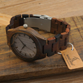 Top Men s Watches All Black Wood Wristwatch with Wood Strap Japan Movement 2035 Quartz Wood