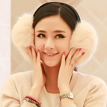 1 Pcs 2015 New Pure Color Rabbit Hair Earmuffs Autumn And Winter Fur Wool Earmuffs For Women And Men 9 Colors Big Size(China (Mainland))