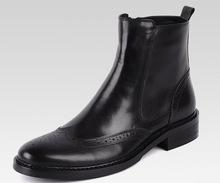 GRIMENTIN Männer Stiefel Leder Echtem Hochwertigen Zip Schwarz Braun  Italienische Klassische Flügelspitze Ankle Booties Für Männlichen 1550cbf7c2