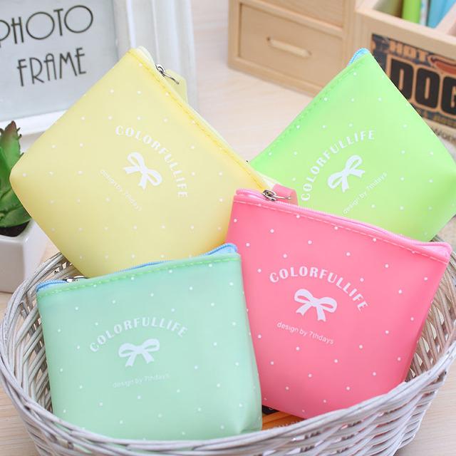 Новый водонепроницаемый конфеты цвет монет сумка портмона каваи кошелек желе клей ...