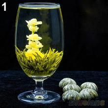 4 Balls Different Handmade Blooming Flower Green Tea Home Wedding Gift 1ON6 1OP3