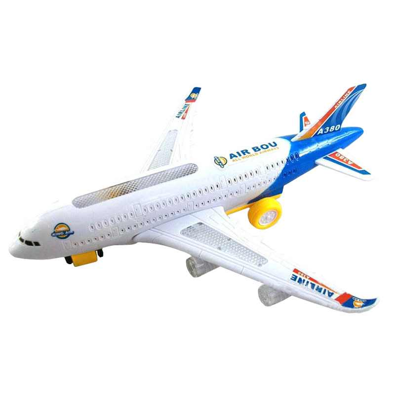 Bump go font b airplane b font flashing sound moving light music toy