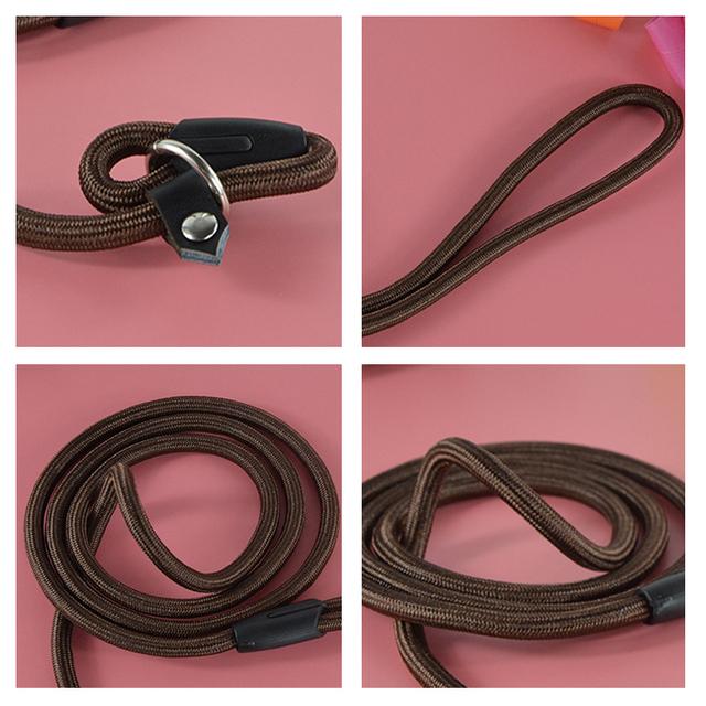 Nylon Adjustable Training Lead Pet Dog Leash Dog Strap Rope Traction Dog Harness Collar Lead