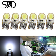 Buy 6 X Auto T10 LED Bulb Pure White 194 W5W 168 COB 8-SMD Silica Car LED Super Bright Turn Side License Plate Light Lamp 12V D030 for $1.99 in AliExpress store