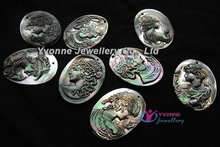 Mixed Styles of ladies Shell Cameo Portrait Pretty Lady Pendant Bead 40x30mm(China (Mainland))