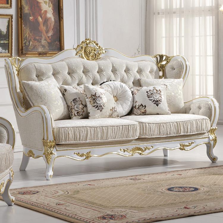 Wholesale Europe Classic Style Sofa Furniture Oak Wood