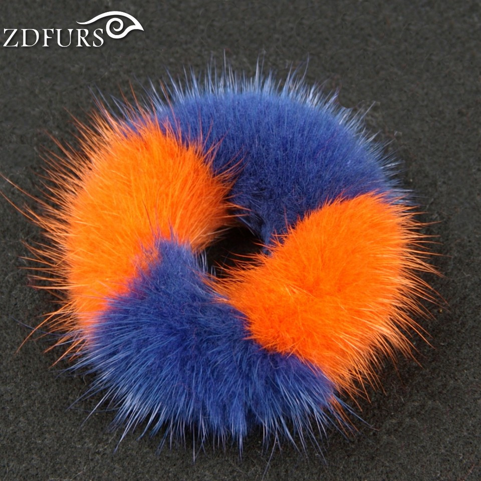 ZDFURS * Real Genuine Mink Fur Hair Band Tail Accessories Woman Elastic Hair Rope girl hairwear Rubber ZDA-164005(China (Mainland))