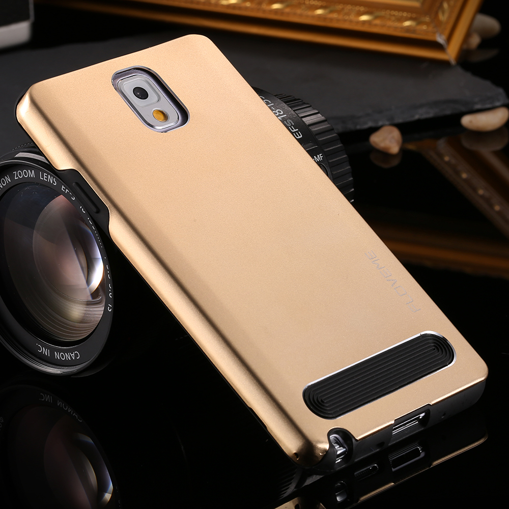 Original Brand Cover For Samsung Galaxy Note 3 N9000 Note 4 N9100 Note 5 N9200 Silicone + Aluminum Metal Hybrid Cell Phone Case(China (Mainland))