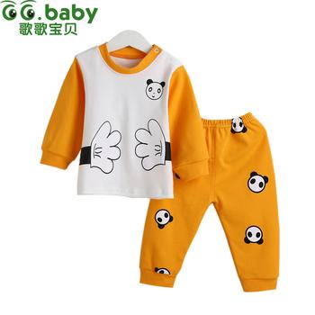 2015 Модный Хлопок born Baby CloТонкийg Sets Boy Autumn Underwear 2 Piece Set Baby ...